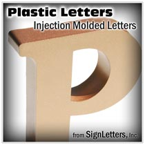 Plastic Injection Molded Sign Letters